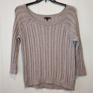 American Eagle cable knot sweater L
